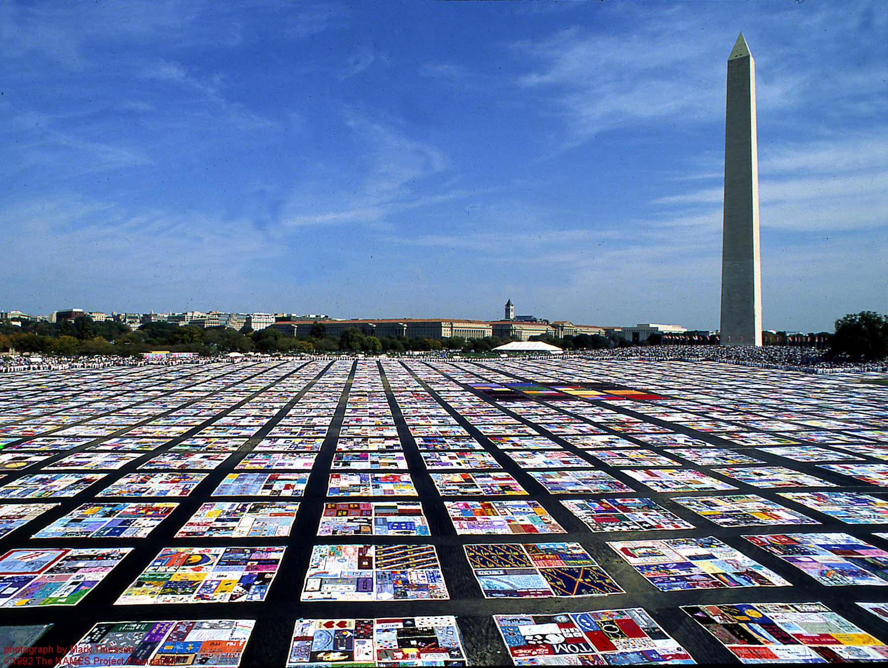 AIDS Quilt Washington DC Pride Month March on Washington Gay Rights LGBT Rights