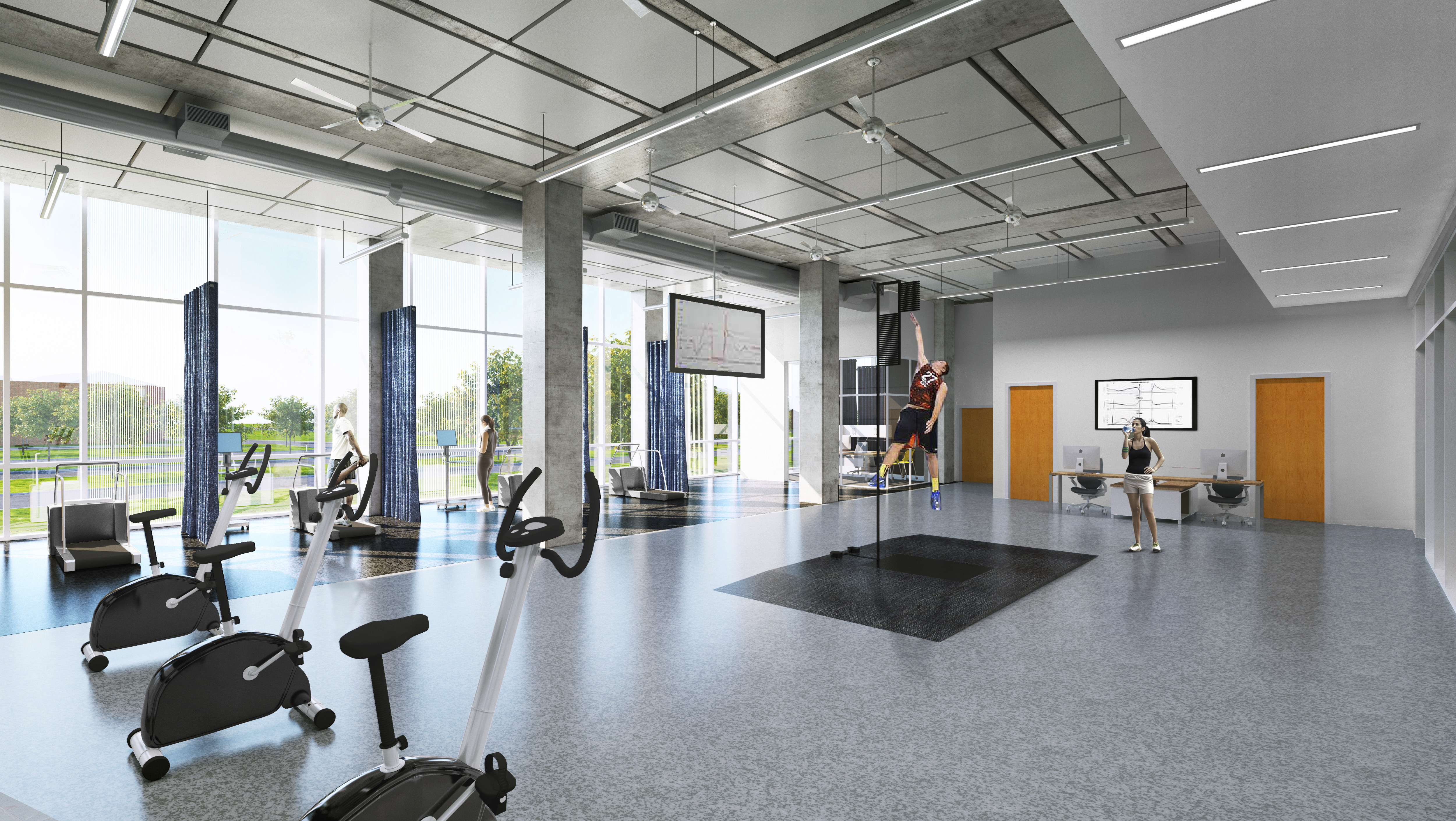 Texas A&M University Commerce, Nursing & Health Sciences Building – Health and Human Performance Lab: