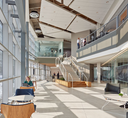 Indiana Toll Road Administration & Operations Building Chicago SmithGroup Architecture Workplace Interior