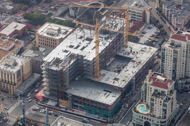 CPMC Van Ness Construction Aerial