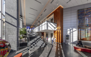 CPMC Van Ness Campus Hospital Lobby Interior SmithGroup