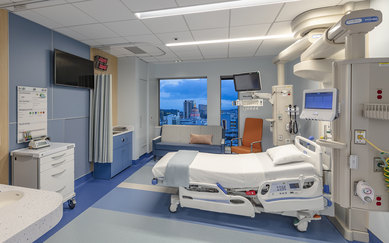 SmithGroup Sutter CPMC Van Ness Campus Hospital Pediatric Room