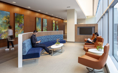 CPMC Van Ness Campus Hospital Family Waiting Area SmithGroup