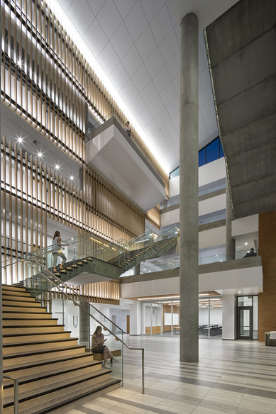 UCR Multidisciplinary Research Building Riverside Interior Staircase Science Technology SmithGroup