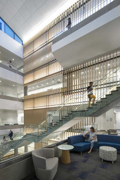 UCR Multidisciplinary Research Building Riverside Interior Science Technology Atrium SmithGroup