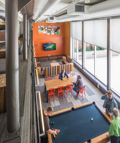 Bowling Green State University McDonald Hall Interior Billiard Architecture Ohio SmithGroup