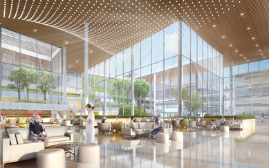 Hanzhong Xinghan Hospital Design Competition Healthcare Design SmithGroup China Architecture Interior Rendering