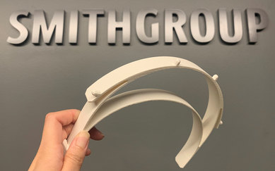 3D Printed Face Shield Single SmithGroup COVID-19