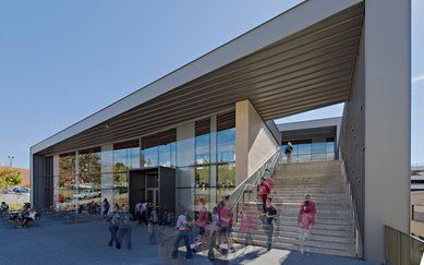 University of Arkansas Champions Hall Architecture Exterior Higher Education SmithGroup