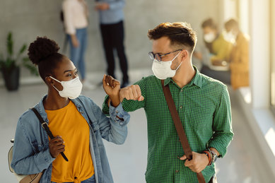 College Students Wearing Masks During COVID-19 Pandemic