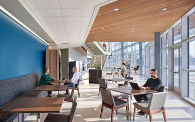 Indiana Toll Road Office Building Interior Elkhart Indiana Workplace Architecture SmithGroup Chicago