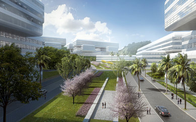 Peng Chang Laboratory SmithGroup Shenzhen China Detroit Architecture Science and Technology Exterior