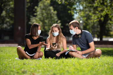 Students on Campus during COVID-19 Pandemic