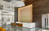 Spear Street Stadium Tech Center Lobby Workplace Office Design Santa Clara SmithGroup