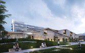 Hanzhong Xinghan Hospital Design Competition Healthcare Design SmithGroup China Architecture Exterior Rendering