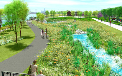 Construction starts for Toledo's Middlegrounds Metropark, designed by SmithGroupJJR