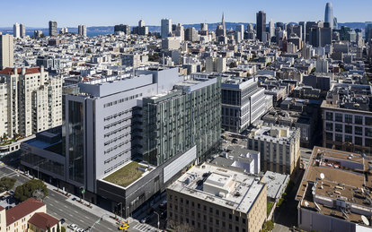 SmithGroup Sutter CPMC Van Ness Campus Hospital Aerial Day