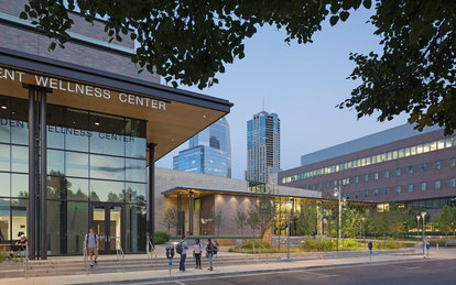 University of Colorado Denver Lola Rob Salazar Wellness Center Exterior Entrance Higher Education Architecture SmithGroup