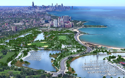Chicago South Lakefront Plan Park District Lake Michigan Aerial Parks and Open Spaces Landscape Architecture SmithGroup