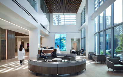 Sharp Healthcare Ocean View Tower Healthcare Architecture Hospital Interior Lobby San Diego SmithGroup