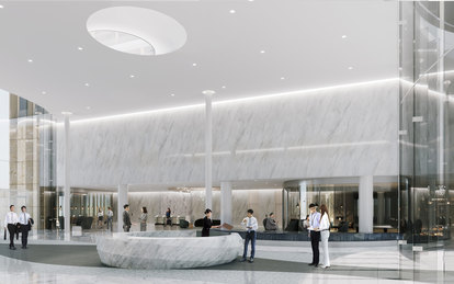 TAIPING FINANCIAL TOWER SmithGroup Workplace Office Design Shanghai Interior Rendering