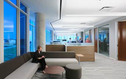 Independent Financial Headquarters Interior Workplace Office Architecture SmithGroup Dallas McKinney