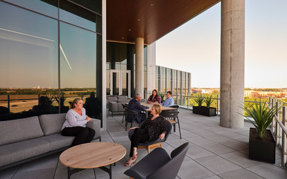 Independent Financial Headquarters Balcony Workplace Office Architecture SmithGroup Dallas McKinney