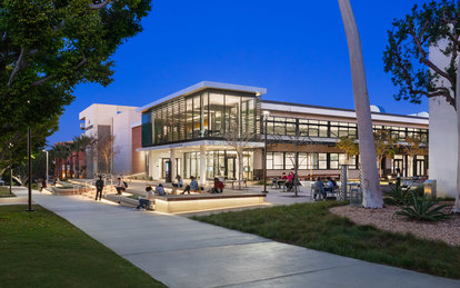 California State University Long Beach Exterior Entrance SmithGroup Los Angeles Higher Education Architecture