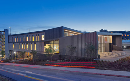 Champions Hall University of Arkansas Exterior Architecture Higher Education SmithGroup