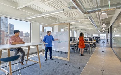 Workplace Social Distancing COVID Pandemic San Francisco Office Interiors SmithGroup