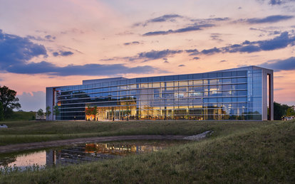 Indiana toll Road office Building Elkhart Indiana workplace architecture SmithGroup Chicago