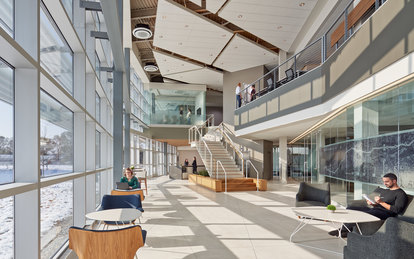 Indiana Toll Road Office Building Elkhart Indiana Interior Workplace Architecture SmithGroup Chicago