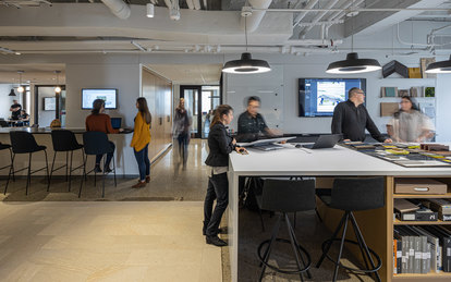 SmithGroup Detroit Interior Renovation Workplace Office Design Michigan Guardian Building